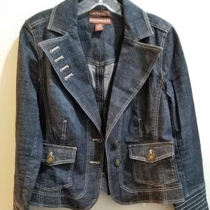 BANDOLINO FITTED WOMEN'S JEAN JACKET SZ 10